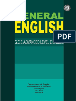 G.C.E. (Advanced Level) General English