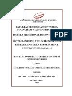 Control Interno Rentabilidad Cadenillas Hermenegildo Jesus Vitaliano Huaraz