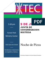 Mixtec Fellowship  Spanish