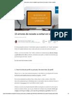 15 errores de novato a evitar en LinkedIn _ Inge Sáez Díaz de Sarralde ✐ _ Pulse _ LinkedIn