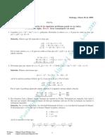 Control 1 - Álgebra 2009 (Prof Miguel Muñoz)