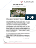 NP07-2017 | Contraloría evaluará las modificaciones a las condiciones financieras del Contrato de Concesión del Aeropuerto de Chinchero