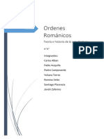 Ordenes de La Arquitectura Romanica