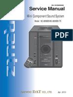17416 Daewoo NC-8008E NC-8009E Minicomponente CD-MP3 Manual de Servicio