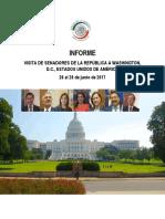 05-07-17 Informe Visita de Senadores de la República a Washington, D.C. Estados Unidos de América