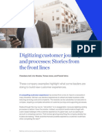 Digitizing Customer Journeys and Processes