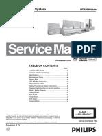 27432 Philips HTS-3000 HTS-3150 Home-Teather-DVD Reproductor de DVD Manual de Servicio