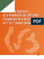 Outil pour le diagnostic et la remédiation des difficultés d'acquisition de la lecture en 1re et 2e  (ressource 2976)
