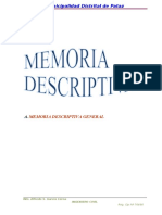 Memoria Descriptiva - Proyecto Defensa Ribereña