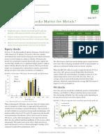 Which Market Shocks Matter for Metals