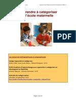 PDF La Categorisation a l Ecole Maternelle a p