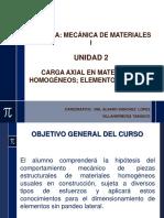 Carga Axial en Materiales Homogéneos, Elementos Cortos1