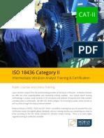 ISO 18436 Category II Vibration Analyst Training
