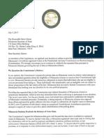 Letter to Secretary Simon