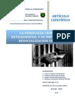 La Penología Criminológica Extrajudicial y Su Impacto en La Resocialización Del Interno