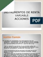 Instr. de Renta Variable Acciones