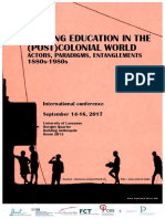 SHAPING EDUCATION IN THE (POST)COLONIAL WORLD