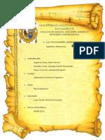 Carátula e Indice de Informe Organica 3