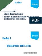 Unidad 7 Habilidades Directivas