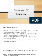 Evaluating Doctrine 2016