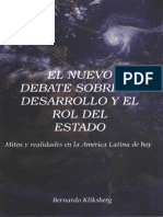 Kliksberg el nuevo debate sobre el desarrollo y el rol del estado.pdf