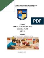 Curso Psicologia Educativa 2017-II Parte