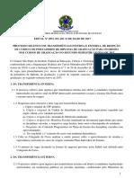 Processo Seletivo de Reopção de Diploma de Graduação No Segundo Semestre de 2017