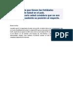 La Importancia Que Tienen Las Entidades Prestadoras de Salud en El País