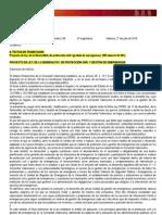 Text del Projecte Llei, de la Generalitat, de Protecció Civil i Gestió d'Emergències