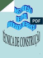 construção de abóbada de berço