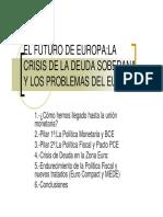 Crisis de La Deuda Soberana y Los Problemas Del Euro