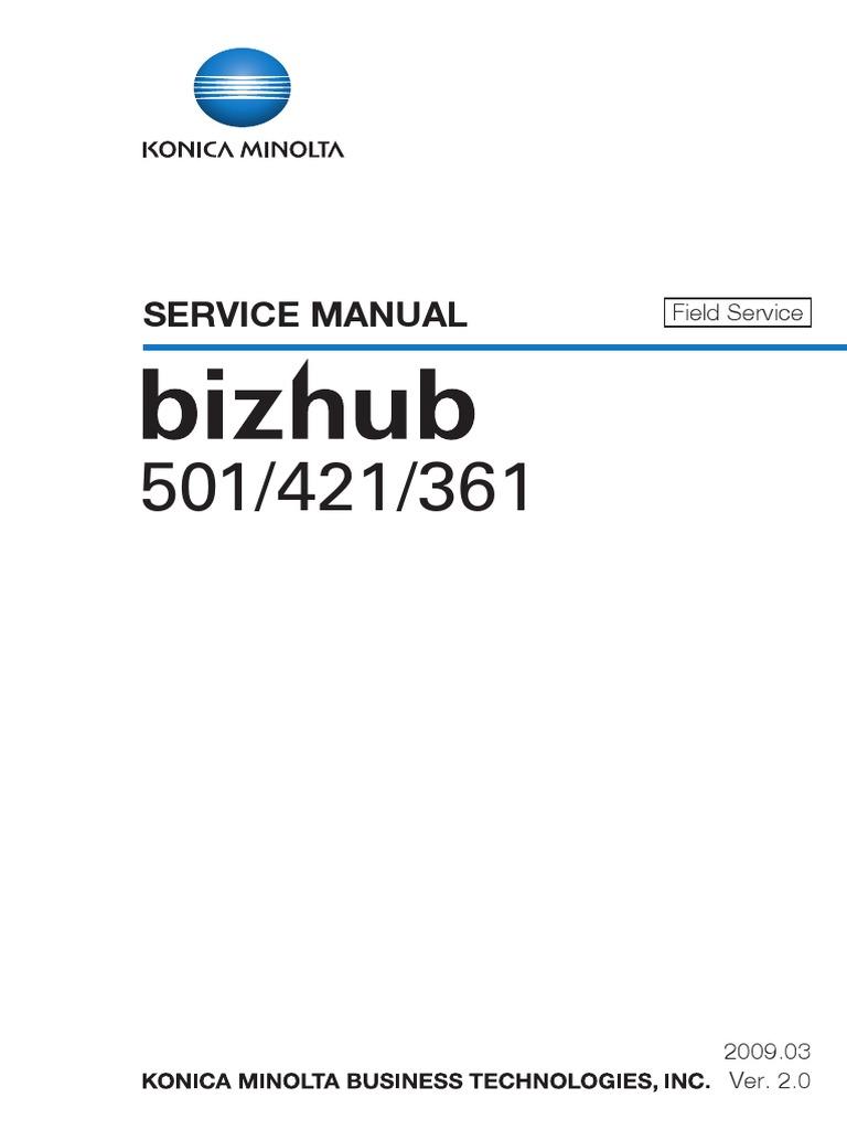 bizhub 600 service manual