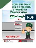 Orientaciones Para El Proceso de Matricula y Evaluacion de Estudiantes en Educacion Basica