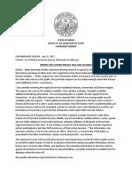 Voting Records Press Release