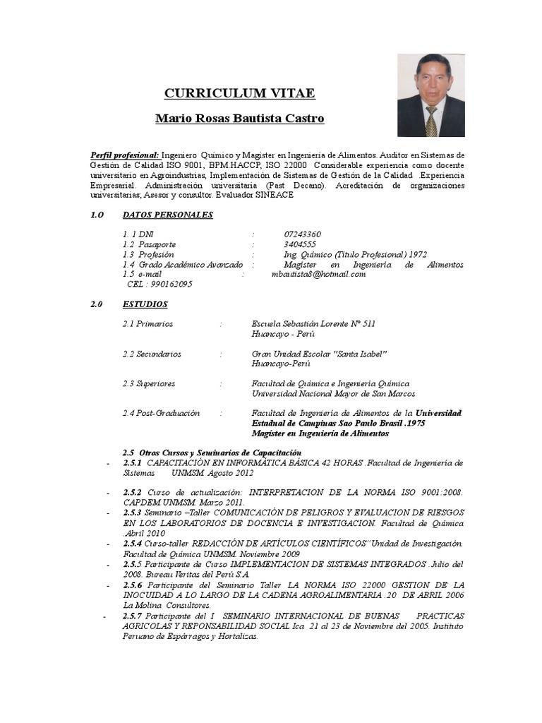 Excelente Curriculum De Calidad Adorno - Colección De Plantillas De ...