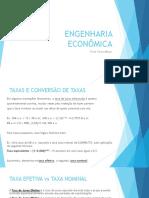 ENGENHARIA ECONOMICA Efetiva Nominal Desconto