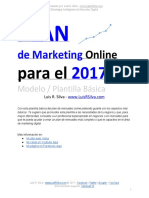 2017-Plan de Marketing Online Ejemplo Plantilla
