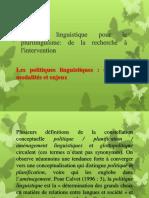 Politique Linguistique Pour Le Plurilinguisme