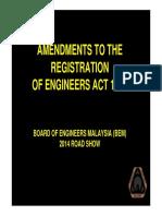 PAPER 1- Amendments to the REA