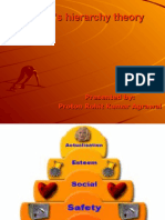 Maslow's Hierarchy Theory