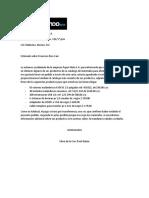 Carta Pedido Español e Ingles