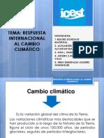 Exposicion Respuesta Internacional Al Cambio Climatico
