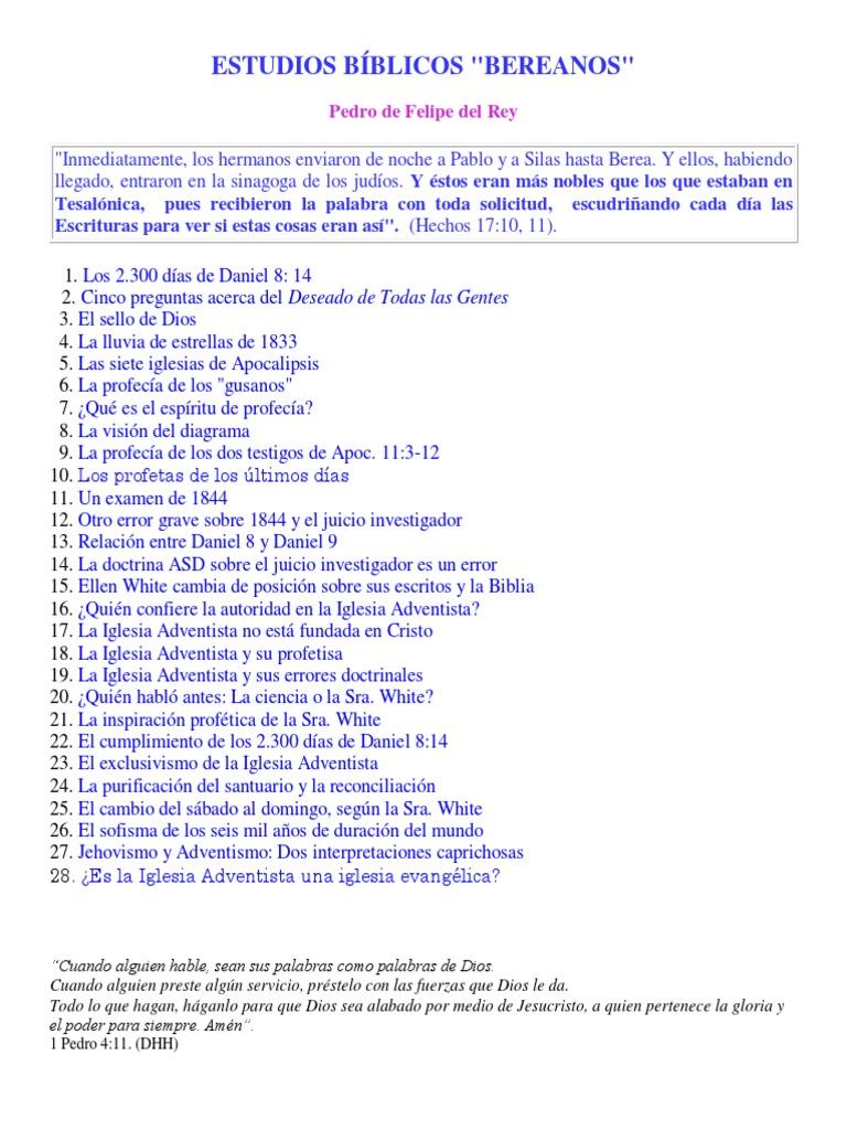 Pedro Felipe Del Rey - Estudios Bíblicos \