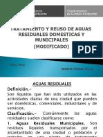 TRATAMIENTO Y REUSO DE AGUAS  RESIDUALES DOMESTICAS Y MUNICIPALES
