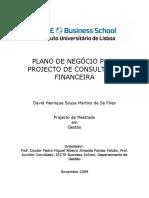 Plano de Negocio Consultoria Financeira