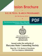 Brochure BE 2010 11