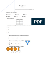 Prueba Matematicas 6to