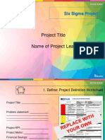 Six Sigma Project Presentation Template
