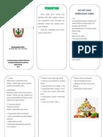 Leaflet Gizi Seimbang Dan Nutrisi Pada Anak