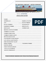 Disney Cruise Shipping Company Application & Interview Letter.